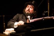Milan Italy. 12th December 2015. Vinicio Capossela live at Teatro Dal Verme