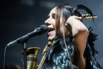 PJ Harvey live on stage at Alcatraz