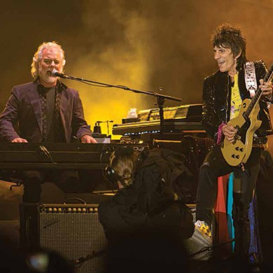 Chuck Leavell con Ron Wood